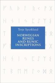 Cover of: Norwegian Runes and Runic Inscriptions by Terje Spurkland