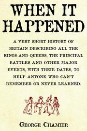 Cover of: When It Happened | George Chamier