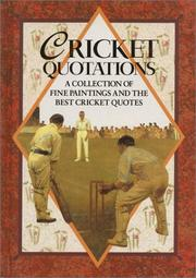 Cover of: Cricket Quotations (Quotation Book) | Helen Exley