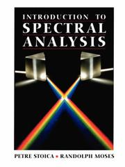 Cover of: Introduction to spectral analysis by Petre Stoica