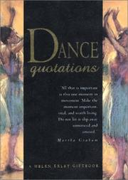 Cover of: Dance Quotations (Quotation Book) by Helen Exley