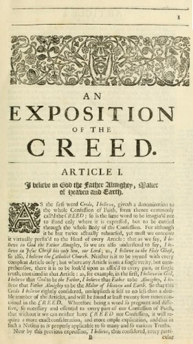 An exposition of the creed by John Pearson