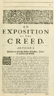 Cover of: An exposition of the creed | John Pearson
