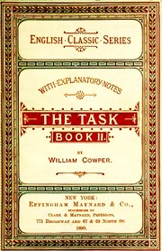 Cover of: The Task | William Cowper