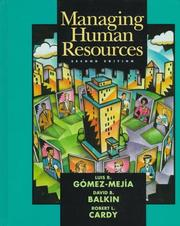 Cover of: Managing Human Resources | Luis R. Gomez-Mejia