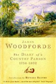 Cover of: The Diary of a Country Parson | Ronald Blythe