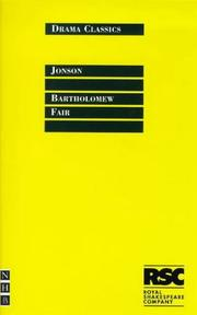 Cover of: Bartholomew Fair | Ben Jonson