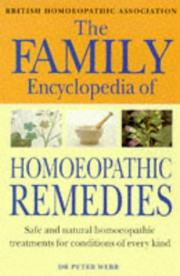 Cover of: The Family Encyclopedia of Homoeopathic Remedies | Peter Webb