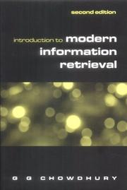 Cover of: Introduction to modern information retrieval by G. G. Chowdhury