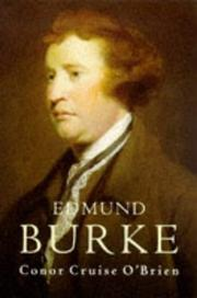 Cover of: Edmund Burke | Conor Cruise O'Brien