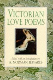Cover of: Victorian Love Poems by A. Norman Jeffares