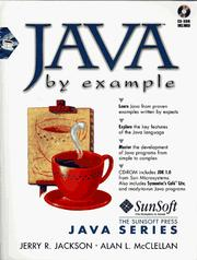 Cover of: Java by example | Jerry R. Jackson