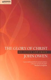 Cover of: Glory of Christ by John Owen