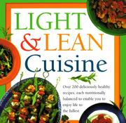Cover of: Light and Lean Cuisine by Anne Sheasby