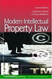 Cover of: Modern Intellectual Property Law | Colston & Middl