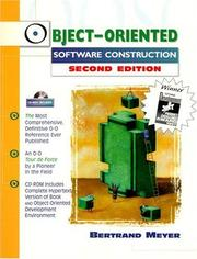 Cover of: Object-Oriented Software Construction (Book/CD-ROM) | Bertrand Meyer