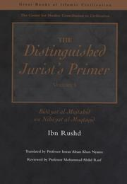 Cover of: The Distinguished Jurist's Primer Volume I | Ibn Rushd