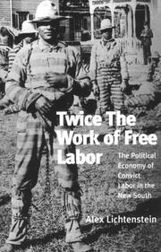 Cover of: Twice the work of free labor by Alexander C. Lichtenstein