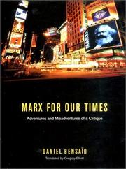 Cover of: Marx for our Times | Daniel Bensaid