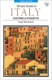 Cover of: Simple Guide to Italy | Hugh Shankland