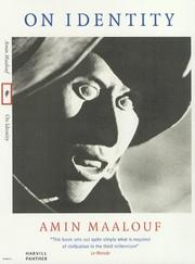 Cover of: On Identity | Amin Maalouf