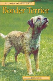Cover of: BORDER TERRIER (Pet Owner's Guide) | Betty Judge