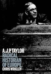 Cover of: A. J. P. Taylor | C. J. Wrigley