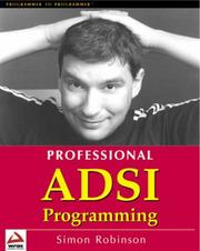 Cover of: Professional ADSI Programming- Active Directory Services Interface | Simon Robinson