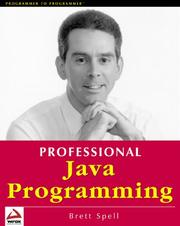 Cover of: Professional Java programming | Brett Spell