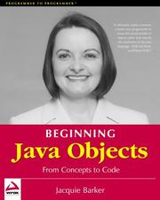 Cover of: Beginning Java objects | Jacquie Barker