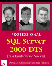 Cover of: Professional SQL server 2000 DTS | Mark Chaffin