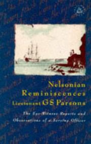 Cover of: Nelsonisn Reminiscences | George Samuel Parsons