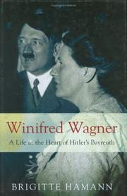 Cover of: Winifred Wagner | Brigitte Hamann