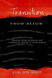 Cover of: Transition from below by K. Von Holdt
