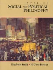 Cover of: Applied social and political philosophy | H. Gene Blocker