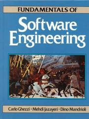 Cover of: Fundamentals of software engineering | Carlo Ghezzi