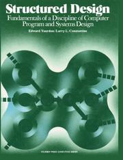 Cover of: Structured design | Edward Yourdon
