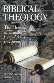 Cover of: Biblical Theology by John Owen