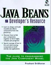 Cover of: JavaBeans developer's resource by Prashant Sridharan