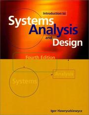 Cover of: Introduction to systems analysis and design by I. T. Hawryszkiewycz