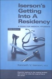 Cover of: Iserson's Getting into a Residency | Kenneth V. Iserson