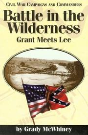 Cover of: Battle in the Wilderness | Grady McWhiney