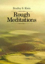 Cover of: Rough meditations by Bradley S. Klein