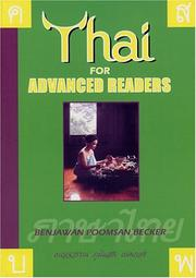 Cover of: Thai for Advanced Readers | Benjawan Poomsan Becker