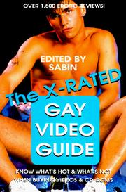 Cover of: The X-Rated Gay Video Guide | Sabin