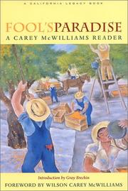 Cover of: Fool's paradise | McWilliams, Carey