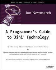 Cover of: A programmer's guide to Jini technology | Jan Newmarch