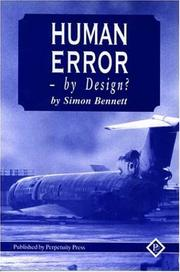 Cover of: Human Error | Simon Bennett