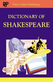Cover of: Dictionary of Shakespeare | Louise McConnell