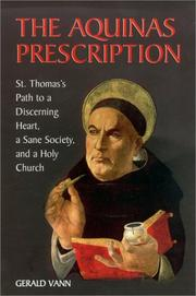 Cover of: The Aquinas prescription | Gerald Vann